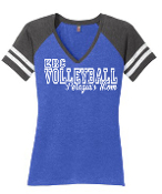 ECR Volleyball 2 Tone V-Neck T-Shirt